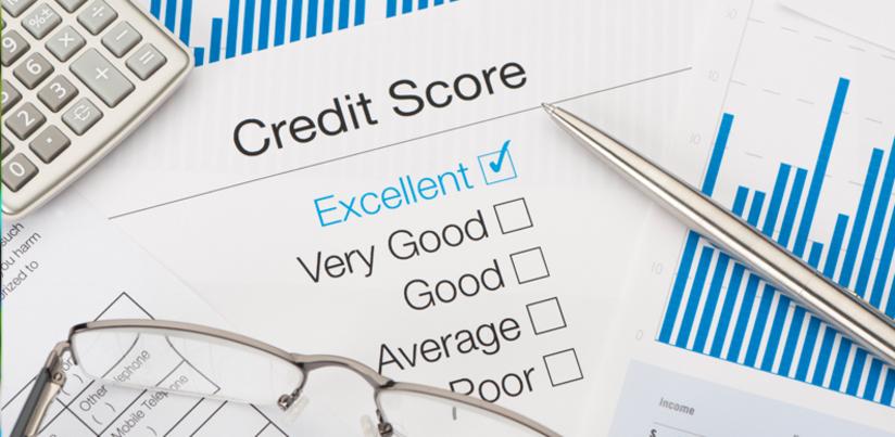 Credit score with calculator