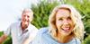 Older couple smiling