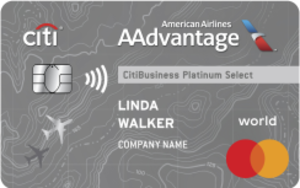 CitiBusiness<sup>&reg;</sup> / AAdvantage<sup>&reg;</sup> Platinum Select<sup>&reg;</sup> World Mastercard<sup>&reg;</sup>